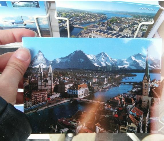 Foto a una postal de Suiza.